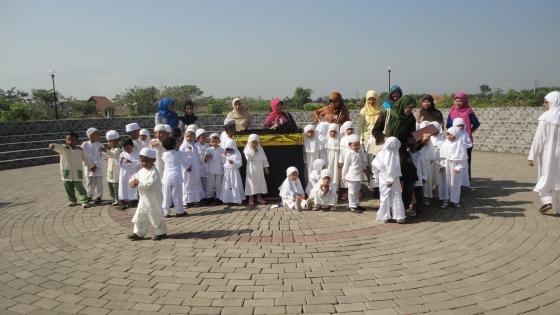 Latihan Manasik Haji anak-anak Kelompok Bermain & TK Raudhah